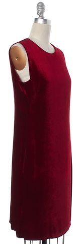 MOSCHINO CHEAP & CHIC Red Velvet Sleeveless Sheath Dress