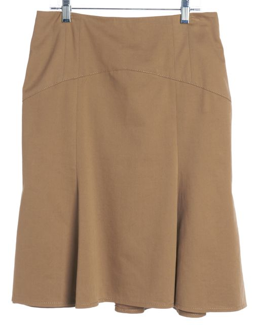 MOSCHINO CHEAP & CHIC Brown Pleated Skirt
