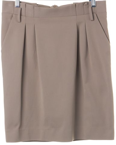 MOSCHINO CHEAP & CHIC Khaki Brown Straight Skirt Size 10 IT 46