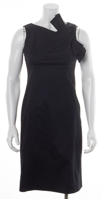 MOSCHINO CHEAP & CHIC Black Sleeveless Bow Embellished Sheath Dress