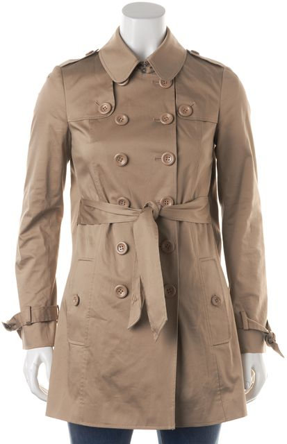 MOSCHINO CHEAP & CHIC Beige Doubled Breasted Trench Coat