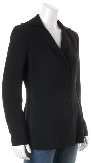 MOSCHINO CHEAP & CHIC Black Three Button Side Pockets Blazer Jacket