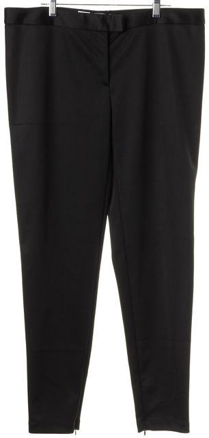 MOSCHINO CHEAP & CHIC Black Embroidered Back Trouser Dress Pants