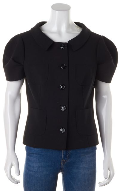 MOSCHINO CHEAP & CHIC Black Short Sleeve Five Button Polyester Blazer