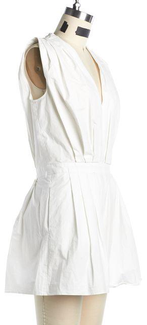 MOSCHINO CHEAP & CHIC White Cotton Sleeveless Romper