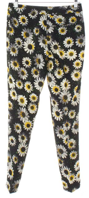 MOSCHINO CHEAP & CHIC Black Green Yellow White Floral Trouser Pants