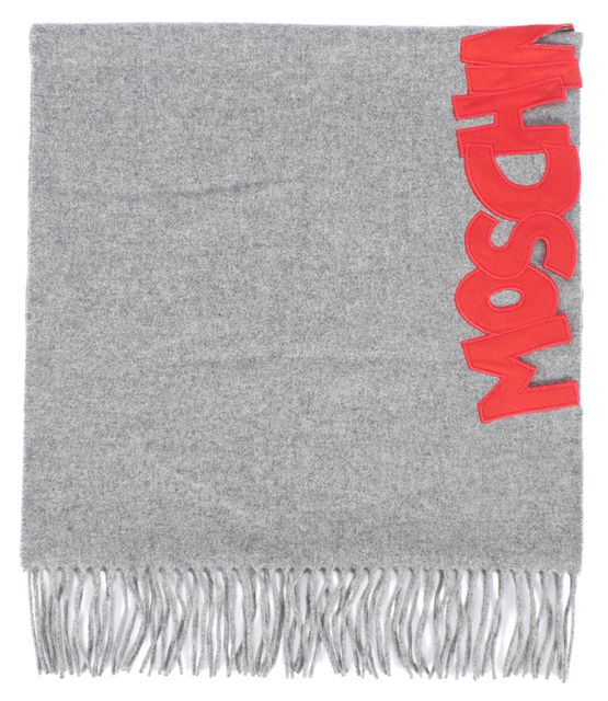 MOSCHINO CHEAP & CHIC Gray & Red Scarf