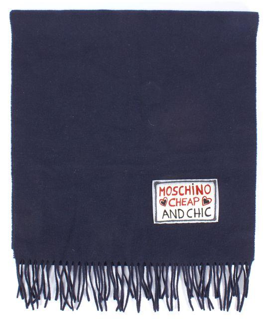 MOSCHINO CHEAP & CHIC Navy Blue Scarf