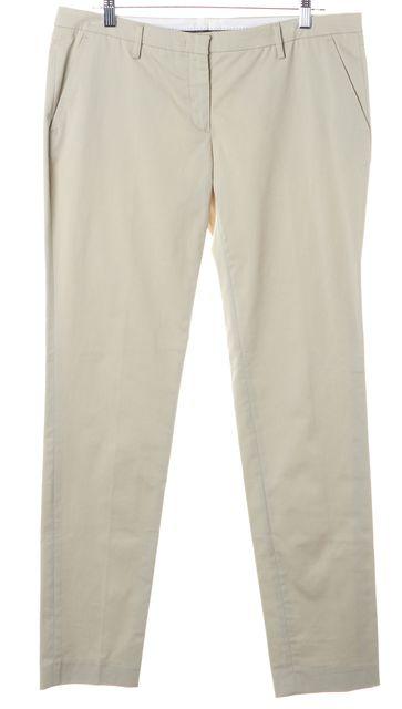 MONCLER Beige Slim Fit Khaki Trouser Dress Pants