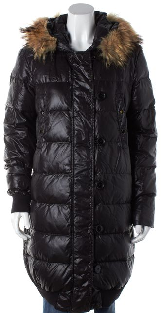 MONCLER Black Long Puffer Lucie Winter Coat