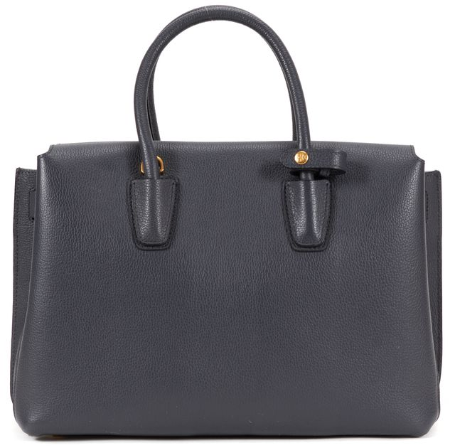 MCM Gray Leather Medium Milly Top Handle Tote Bag