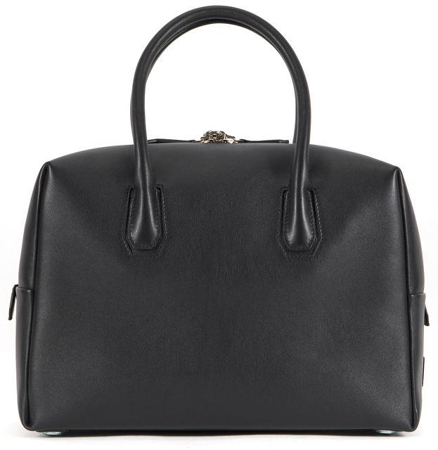 MCM Black Leather Munich Boston Medium Shoulder Bag