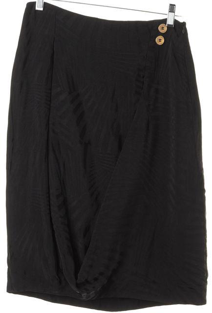 MCQ ALEXANDER MCQUEEN Black Tonal Striped Pleated Pencil Skirt