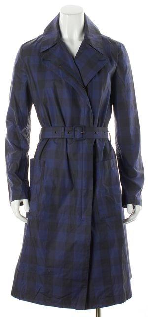 MCQ ALEXANDER MCQUEEN Blue & Black Check Windbreaker Jacket