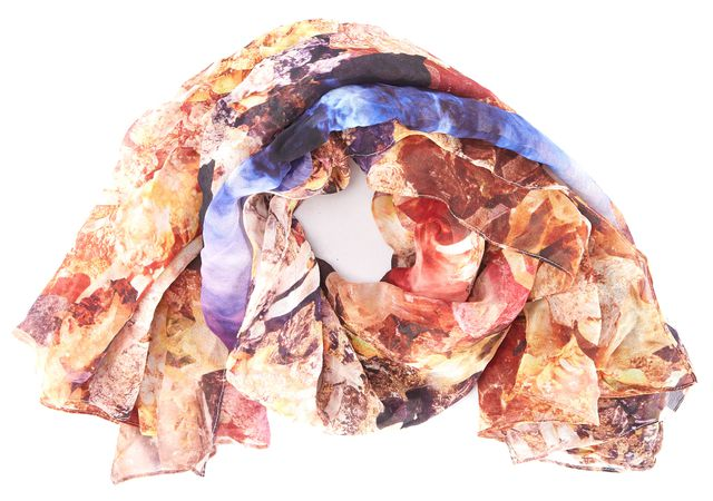 MCQ ALEXANDER MCQUEEN Bright Multi-Color Rectangular Abstract Scarf