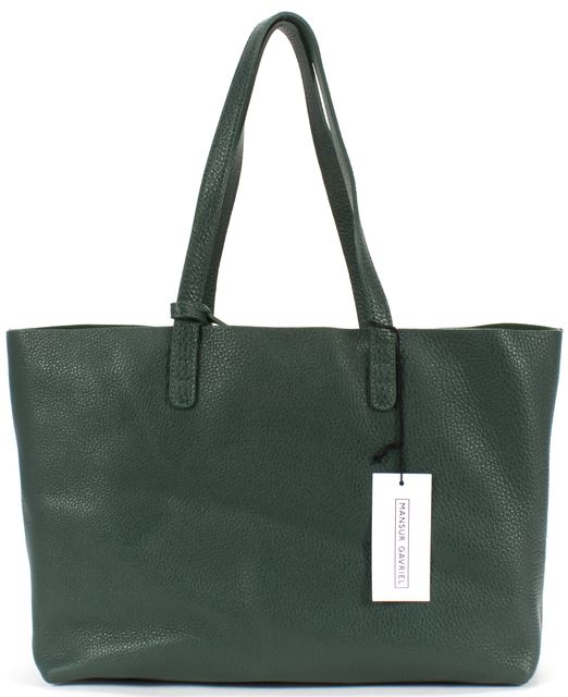 MANSUR GAVRIEL Moss Green Tumbled Leather Small Tote Bag