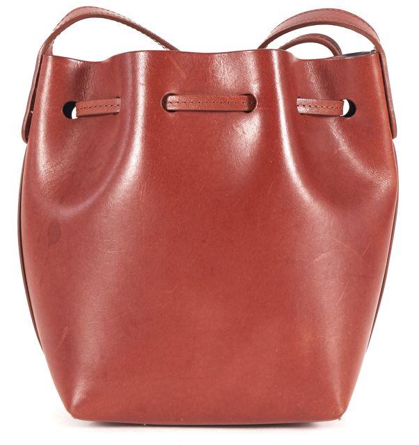 MANSUR GAVRIEL Medium Brown Leather Mini Bucket Crossbody Shoulder Bag