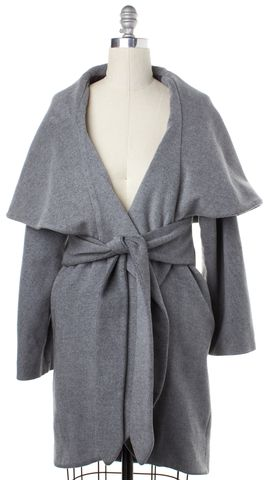 MARA HOFFMAN Gray Basic Coat