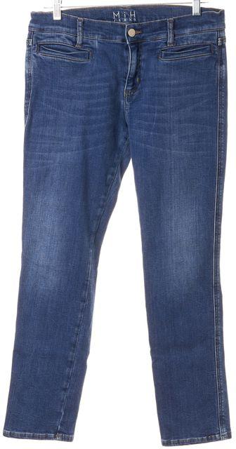 M.I.H. JEANS Blue Medium Wash Mid-Rise Slim Crop The Paris Jeans
