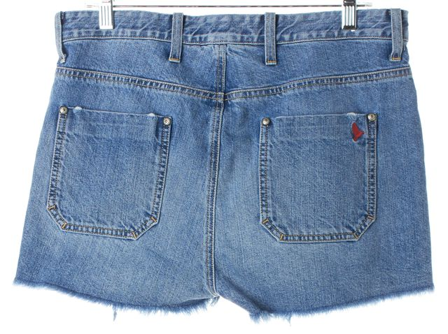 M.I.H. JEANS Blue Mini Fringed Denim Shorts
