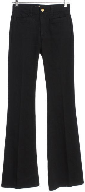 MIH JEANS Black Mid-Rise Kick Flare Jeans
