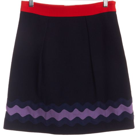 MILLY Navy Blue Purple A-Line Skirt