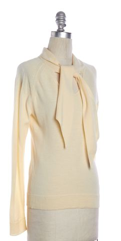 MILLY Ivory Wool Knit Top