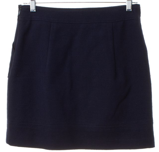 MILLY Blue Textured Pencil Skirt
