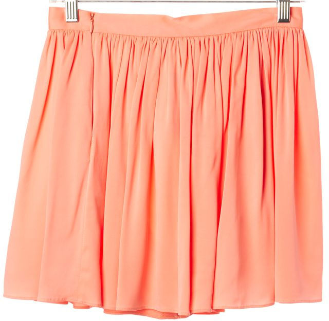 MILLY Pink Pleated Dress Shorts