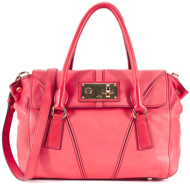 MILLY Pink Leather Top Handle Satchel