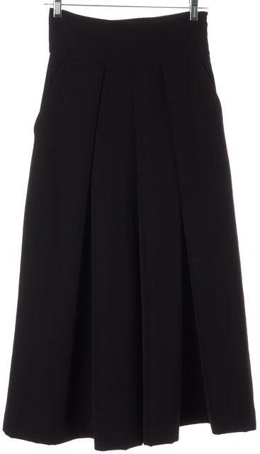 MILLY Black Dress Gaucho Pants