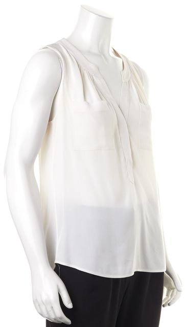 MILLY Ivory Silk Blouse Top