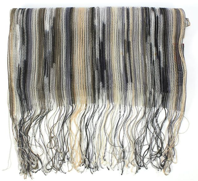 MISSONI Multi-color Striped Scarf With Fringe