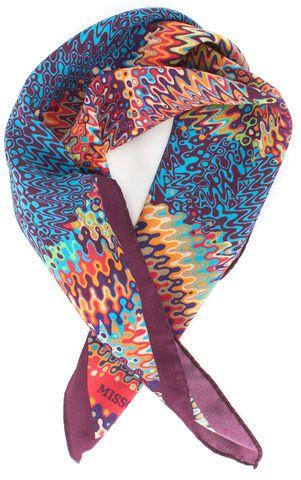 MISSONI Multi Color Print Silk Square Scarf