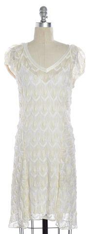 MISSONI White Lace Short Sleeve Dress