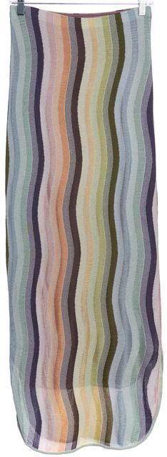 MISSONI Multi-color Striped Maxi Skirt
