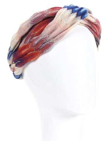 MISSONI Pink Orange Multi Color Knit Headband