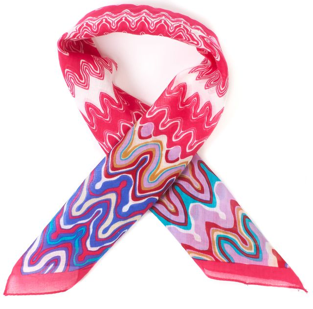 MISSONI Pink Multi Printed Woven Square Scarf