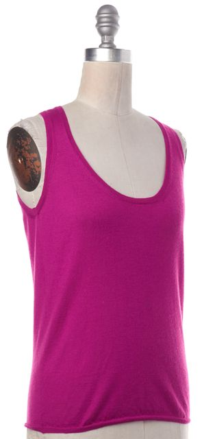 MISSONI Pink Cashmere Silk Knit Tank Top