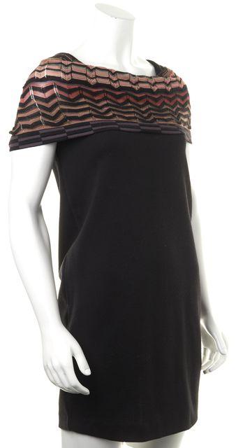 MISSONI Black Wool Sheath Dress