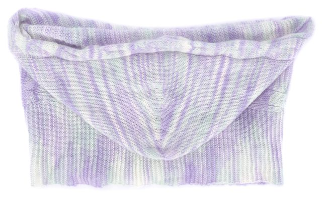MISSONI Purple Abstract Wool Blend Scarf With Hood