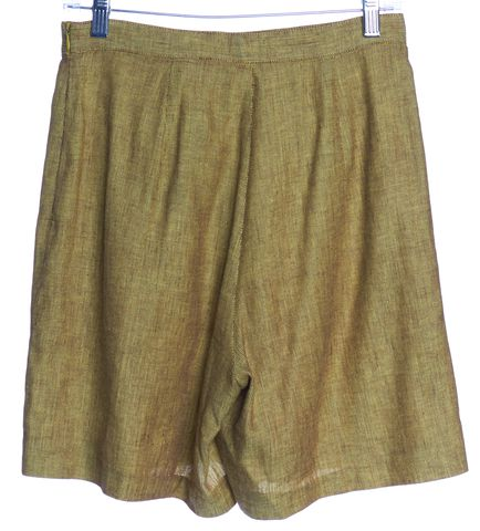 MISSONI SPORT Yellow Linen Casual Shorts