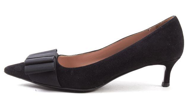 MIU MIU Black Suede Bow Detail Heel Size 35