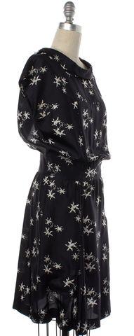 MIU MIU Black White Silk Sheath Dress