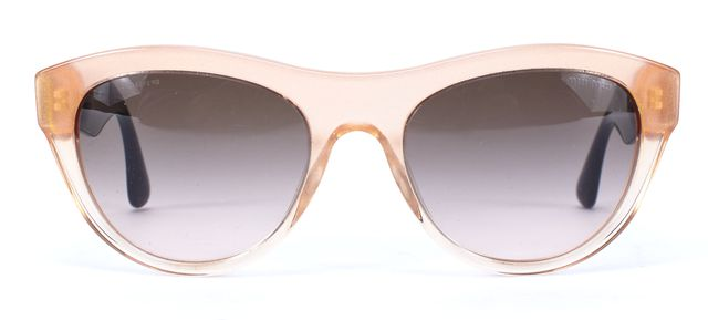 MIU MIU Pink Translucent Acetate Glitter Cat-Eye Sunglasses