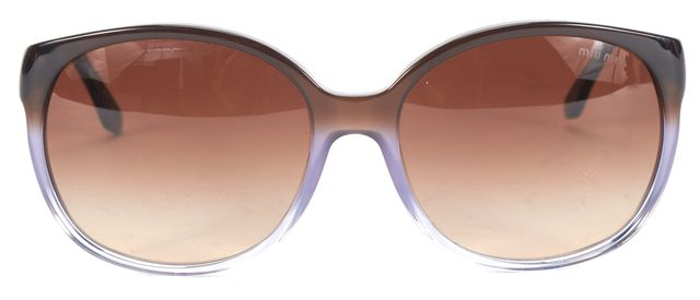 MIU MIU Brown Acetate Gradient Lens Square Sunglasses
