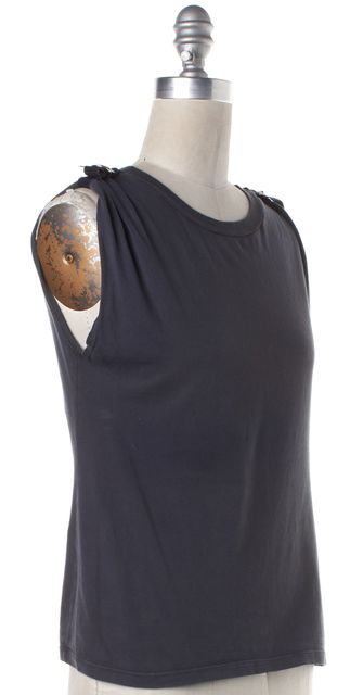 MIU MIU Gray Blue Basic Tee T-Shirt