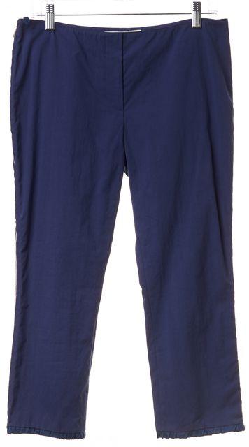 MIU MIU Blue Yellow Side Zipper Track Casual Pants