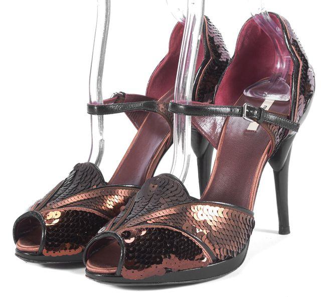 MIU MIU Brown Sequin Pump Heels