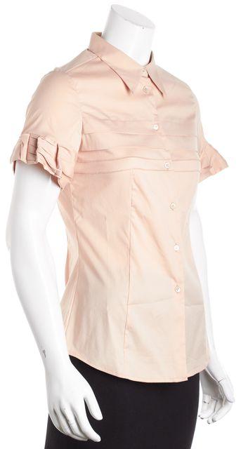 MIU MIU Pale Pink Ruffle Polo Shirt